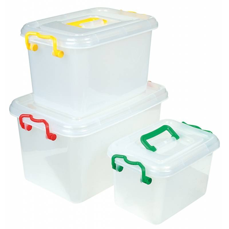 Storage Box with Clip Lids & Handles Small