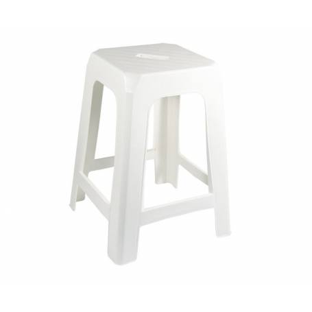 Stool White Resin