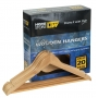 Coat Hanger Wooden 12mm 20Pack