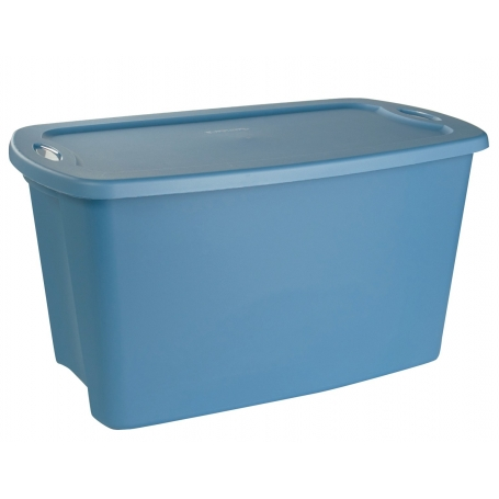 Sterilite Tote Box with Lid Blue 114L
