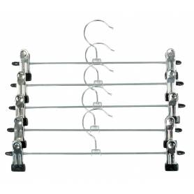 Clothes Hanger with Clips Chrome 5 Pack