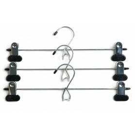 Coat Hanger with Clips Chrome 3Pack