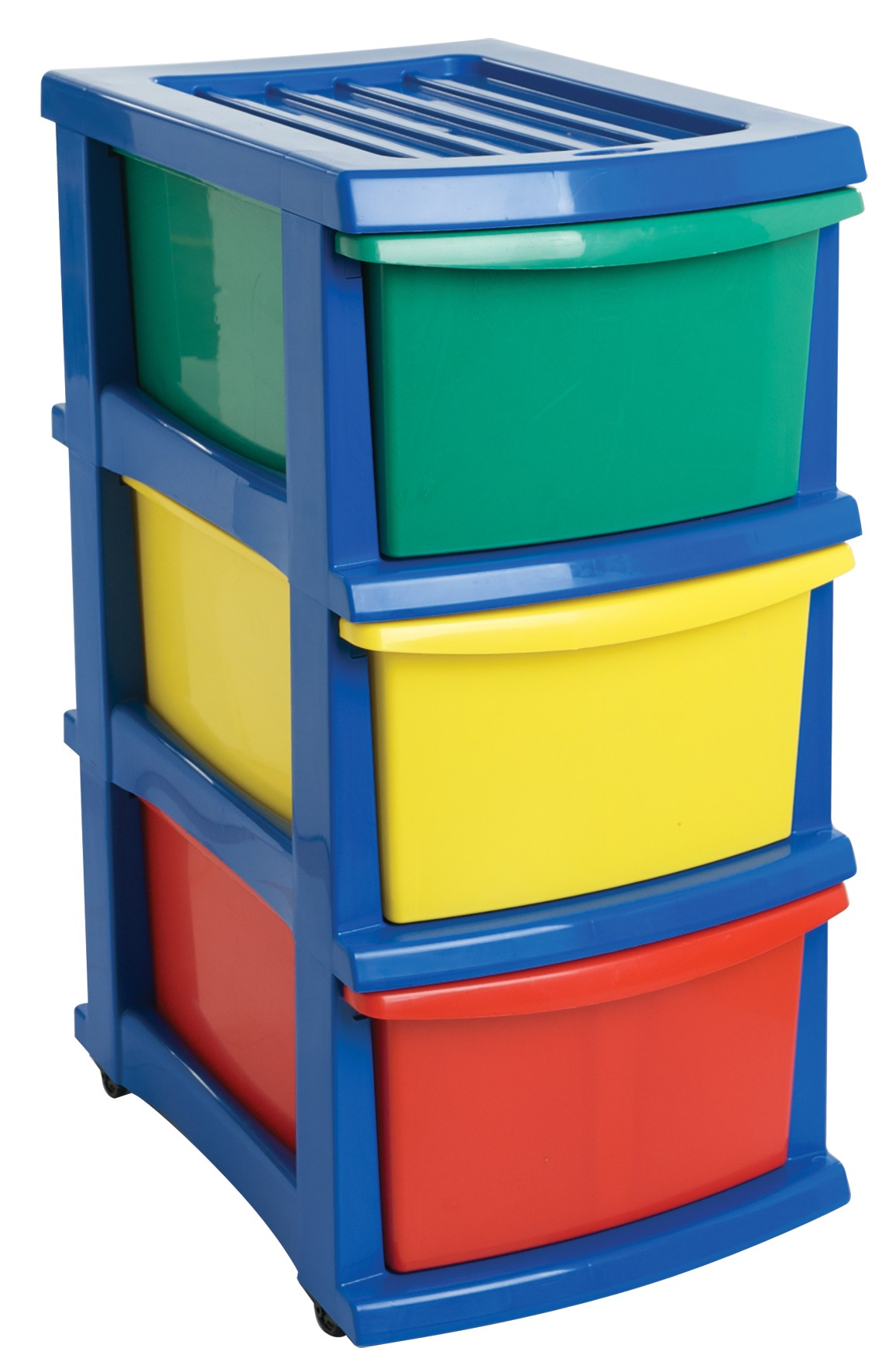 Plastic A3 Unit 3 Drawer Coloured From Storage Box