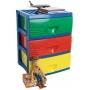 Plastic B2 Unit 3 Drawer Coloured