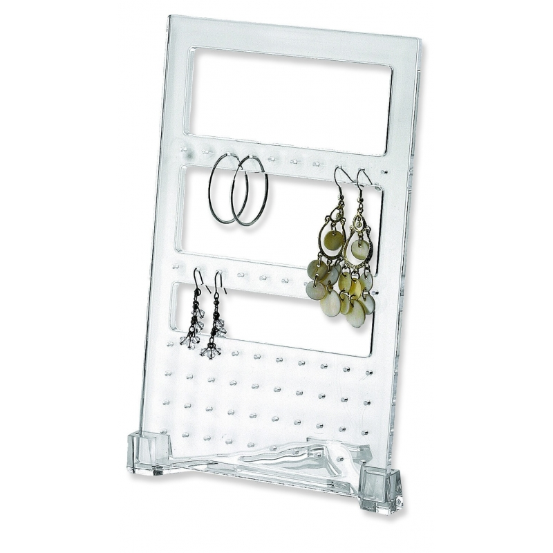 Glam acrylic earring holder from storage box for Bathroom jewelry holder