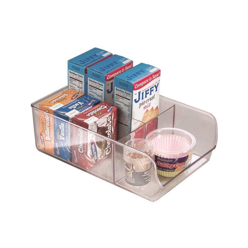 Linus Pantry Bin 3 Compartment Wide