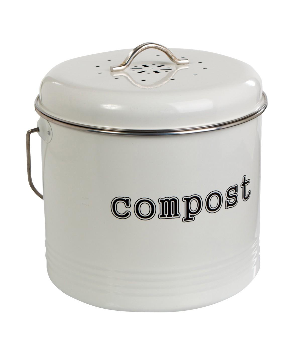compost bin white 6 5l from storage box