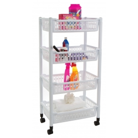Trolley 4 Tier Plastic Jumbo