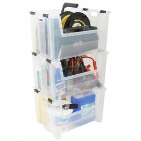 Bin Pack n Stack 50L Clear