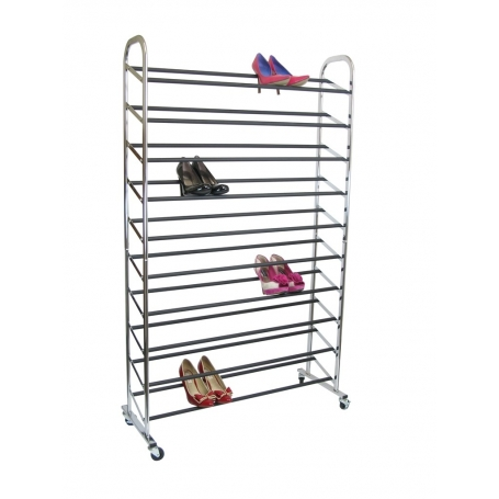 Shoe Tower 50 Pairs Chrome