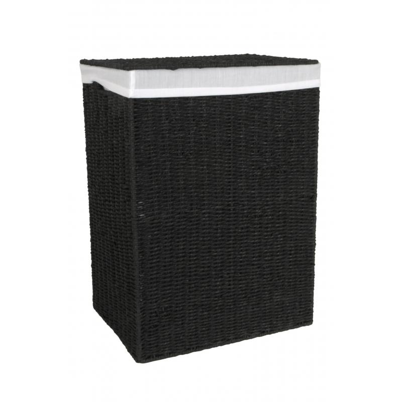 Laundry Hamper Black Large