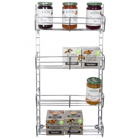 Spice Rack 4 Tier Adjustable Chrome
