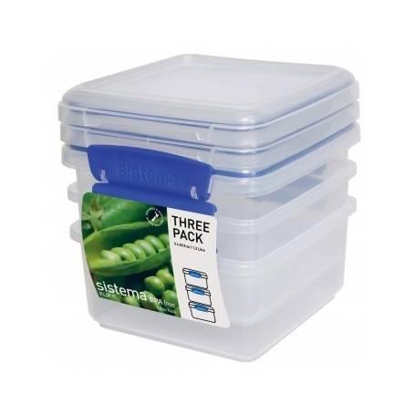 Sistema Klip It 1.2L Food Storer 3 Pack
