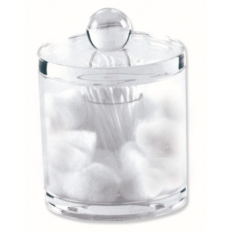 Glam Acrylic Cotton Bud & Ball Container