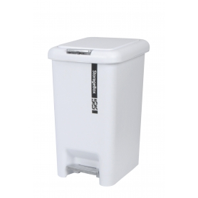 Plastic Pedal Bin 10L White