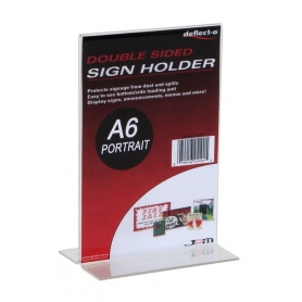 Sign Holder A6 Upright Portrait