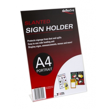 Sign Holder A4 Slanted Portrait