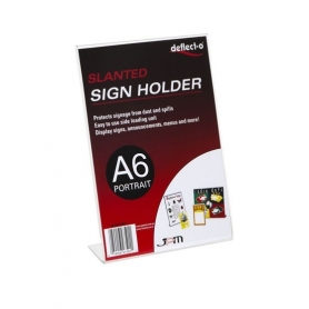 Sign Holder A6 Slanted Portrait