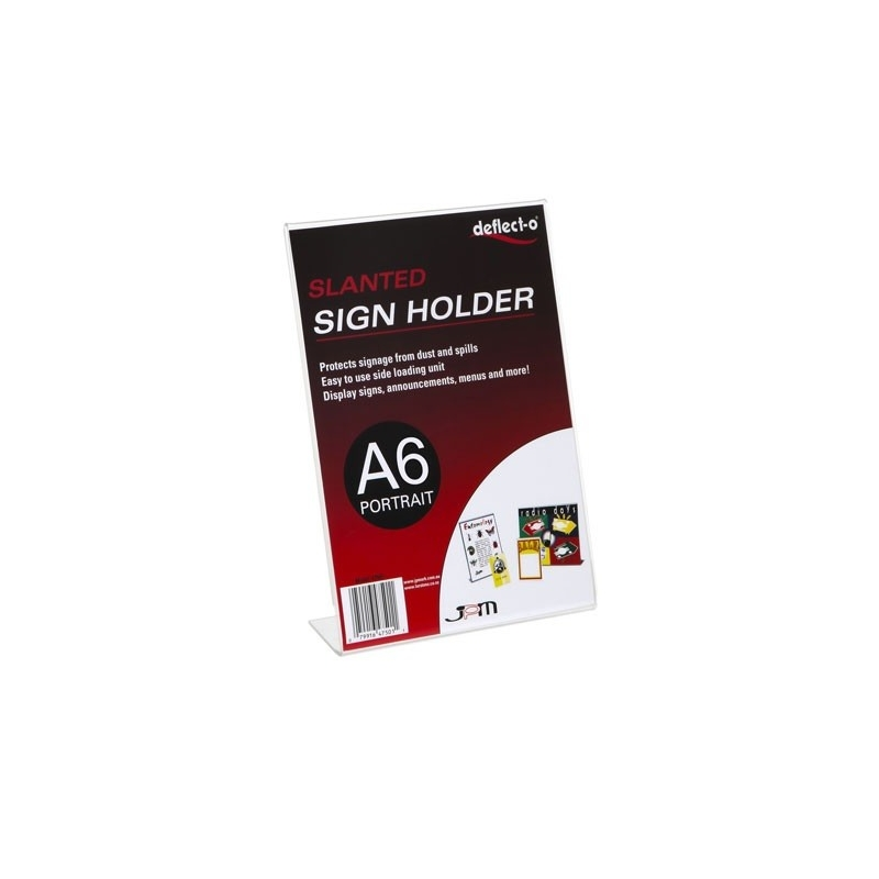 Sign Holder A6 Slanted Portrait