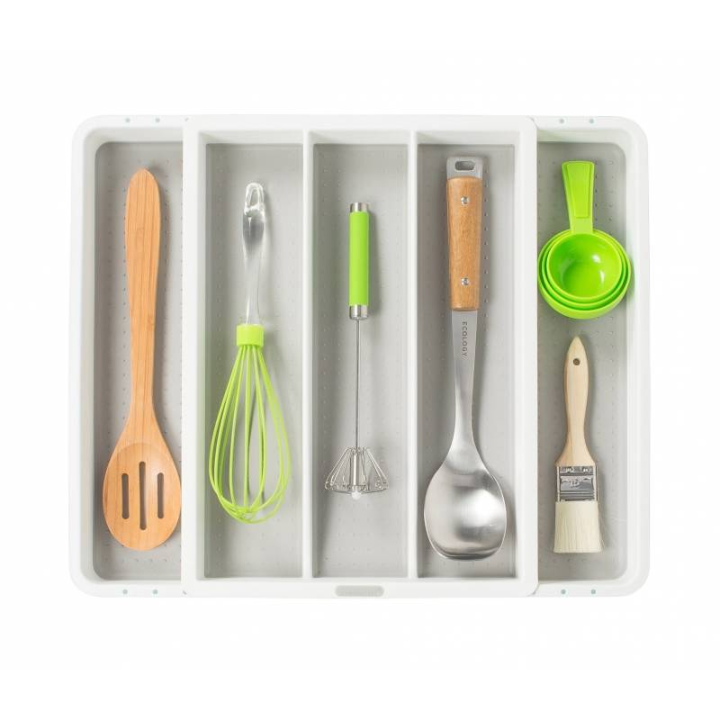 Madesmart Utensil Tray 5 Compartments Expandable