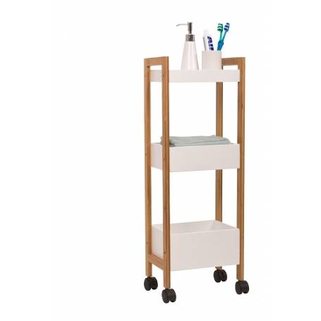 Bamboo 3 Tier Trolley Rack