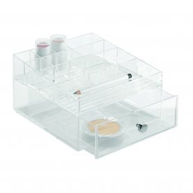 Clarity Cosmetic Organiser with Drawer