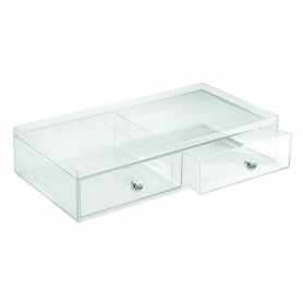 Clarity Cosmetic Organiser 2 Drawer