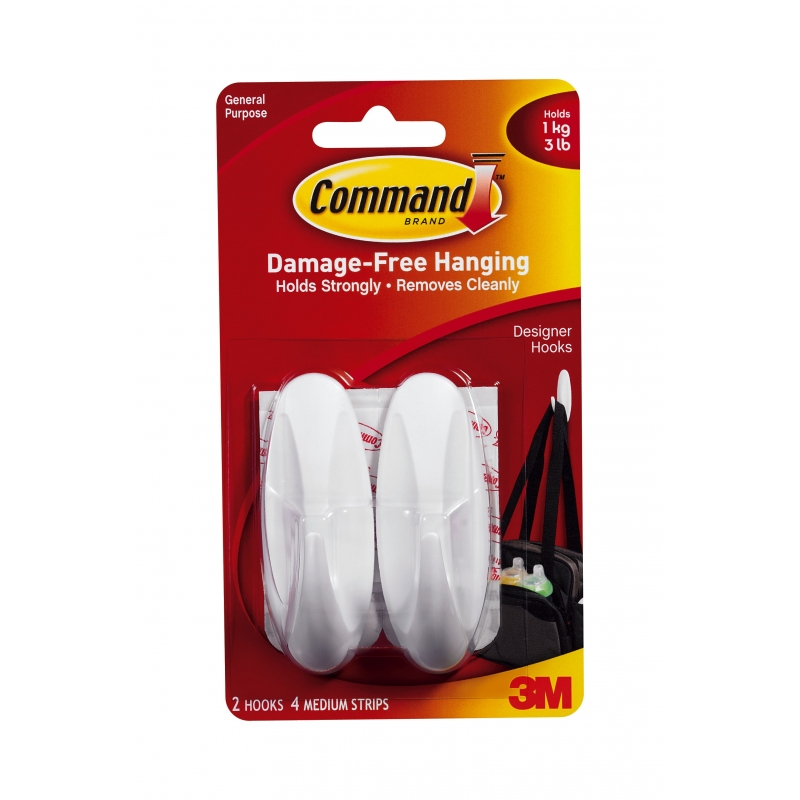 Command Designer Hooks Medium 2 Pack