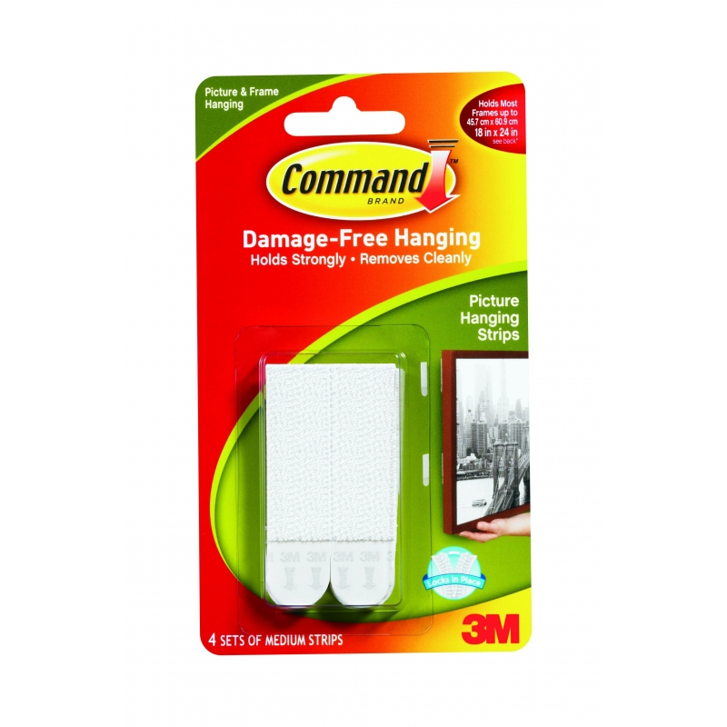 Command Picture Handing Strips Medium 4 Pack