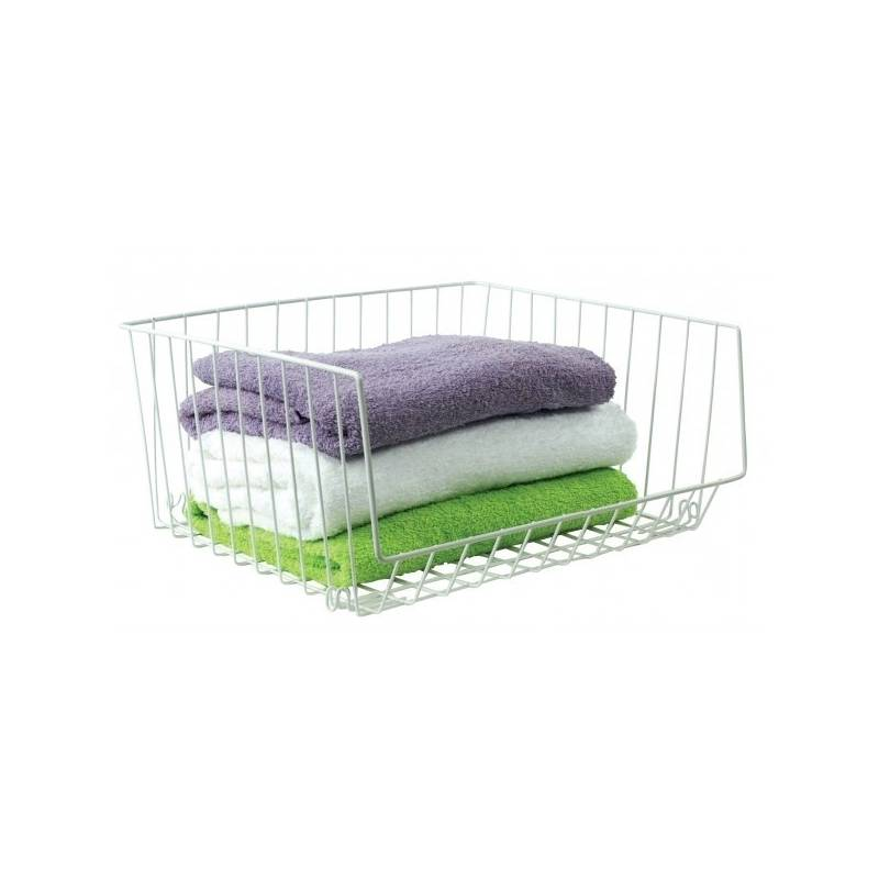 Wire White Basket Stackable