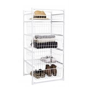 Wire Basket Storage Unit 5 Drawers