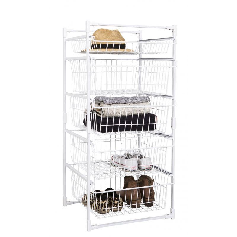 Wire Basket Storage Unit 5 Drawers
