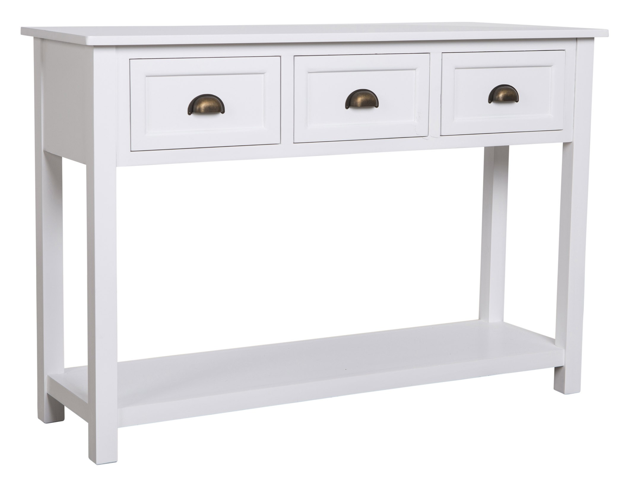 White Console Table With Drawers From Storage Box