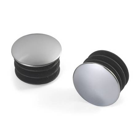 Elfa Closet Rod End Caps Chrome 2 Pack