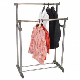 Garment Rack 2 Bars Height Adjustable