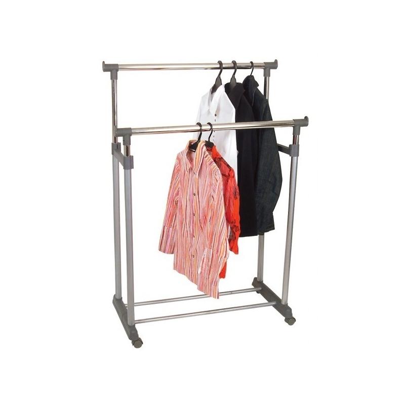 Garment Rack 2 Bars Height Adjustable