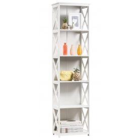 White 5 Tier Cross Shelf