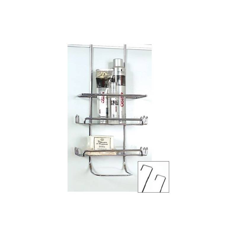 LTW Shower Caddy Chrome. Shower Caddy Chrome Over Wall or Door from Storage Box