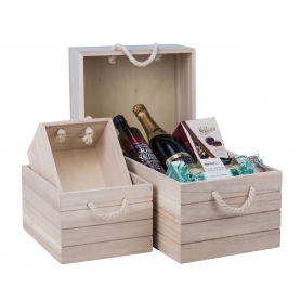 Natural Wooden Crate Xtra Large