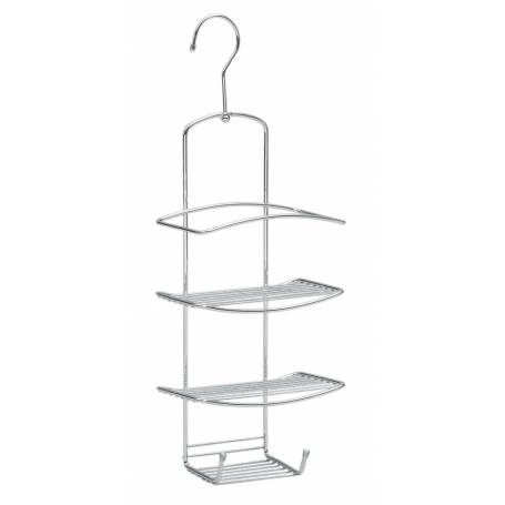 LTW Shower Caddy Chrome with Swivel Hook