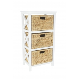 Stella Shelf 3 Tier with Hyacinth Baskets