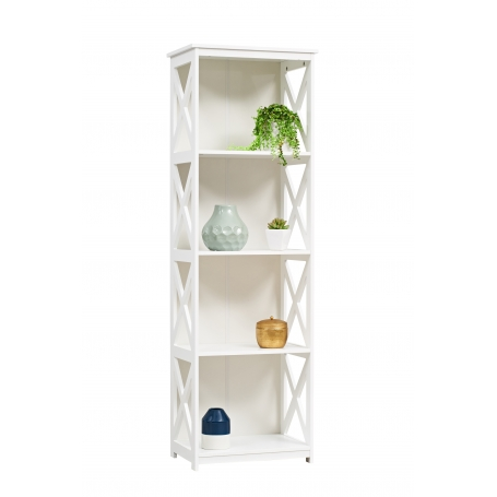 White 4 Tier Cross Shelf