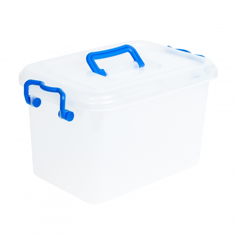 Storage Box with Clip Lids & Handles Medium