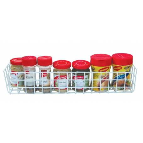 Spice Shelf 39cm White Wire