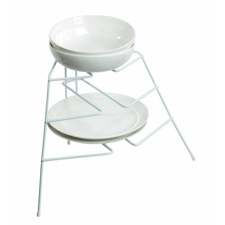 Plate Stand 3 Tier White