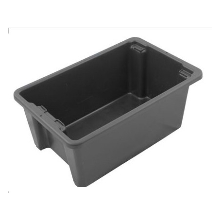 Stack and Nest Bin 52L Black Plastic