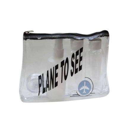 Travel Zip Bag Plane To See 4Piece