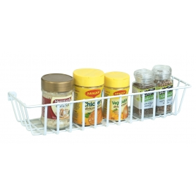 Spice and Utility Rack 38.5x10.5X7cm White Wire