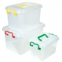 Storage Box with Clip Lids & Handles Large