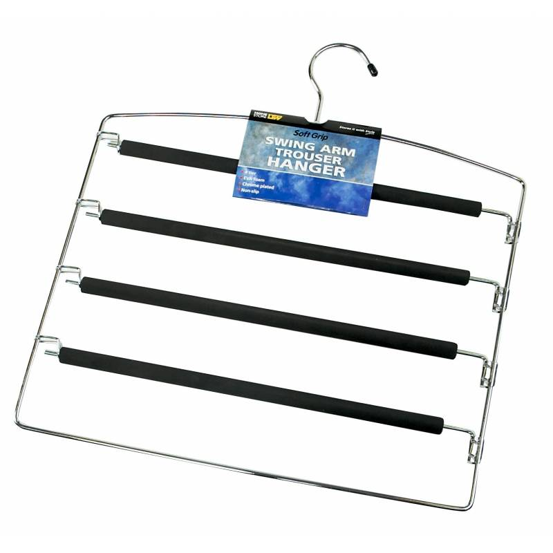 Storage World Coat Hanger with Clips 2Pack